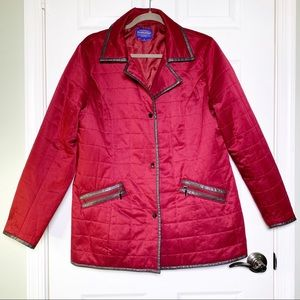 Pendleton Red Quilted Jacket